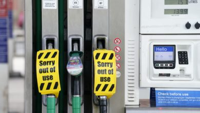 A small number of petrol forecourts have closed due to the lack of fuel