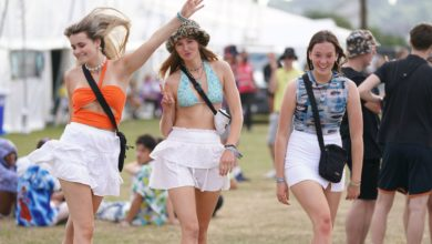 Festival goers at the Reading Festival at Richfield Avenue. Picture date: Thursday August 26, 2021