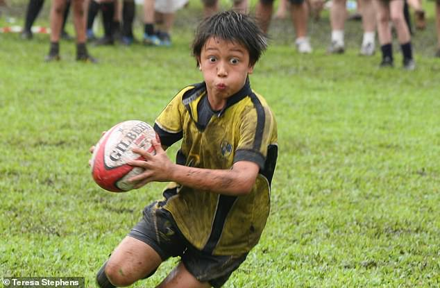 Smith is enjoying an expanding lore and came through at Centaurs RFC (pictured here aged 12)