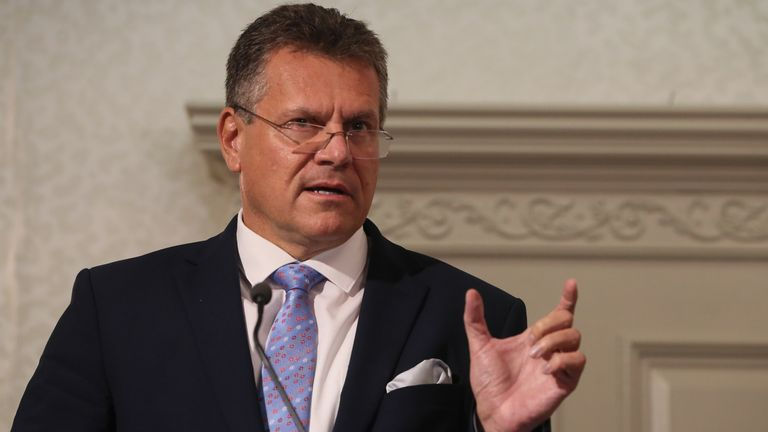 European Commission Vice President Maros Sefcovic said Northern Ireland risks instability if the protocol is renegotiated