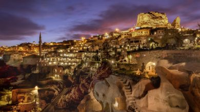 'Argos in Cappadocia' hotel, pictured, is one of the most jaw-dropping places to stay in Cappadocia