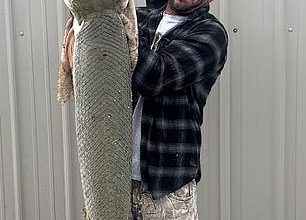 The fish was caught by angler Danny Lee Smithaccording to a statement from the Kansas Department of Wildlife and Parks