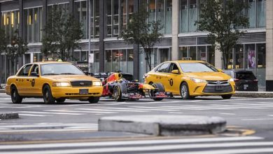 Red Bull have uploaded photos of their 2011 RB7 Formula One car on the streets of New York
